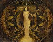 Goddess Art Eris Discordia Goddess of Chaos 8x10 Print