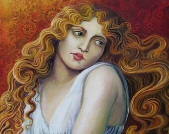 Isis - Art Nouveau Pagan Witch Goddess 8x10 Print