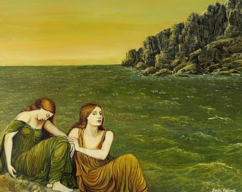 Sea Sisters 8x10 Fine Art Print Ocean Mythologogy Goddess Art