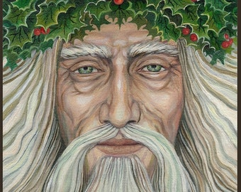 The Holly King - Pagan Winter God 5x7 Blank Greeting Card