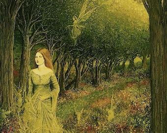Morgan Le Fay 11x14 Fine Art Print Pagan Mythology Medieval Witch Fairy Goddess Art