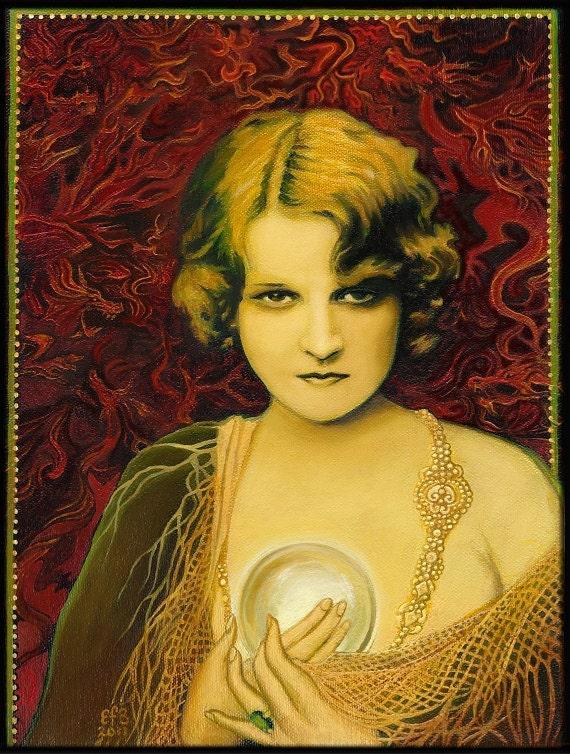 Gypsy Queen Psychic Mythological Goddess Art 8x10 Print