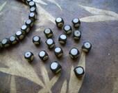 Buri Cube Beads 15pc