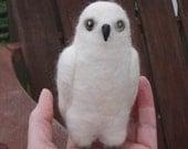 Hedwig - needle felted white owl