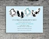It's Ladies Night - Bachelorette Invitation Party Design - DIY Printables