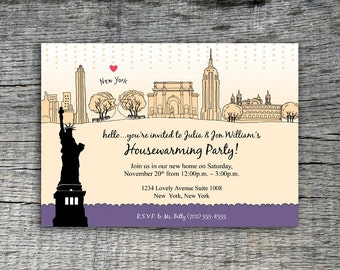 I Love New York Invitation Party Design - DIY Printables