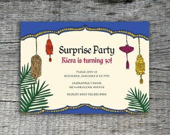 DIY Printable - Moroccan  Invitation Party Design