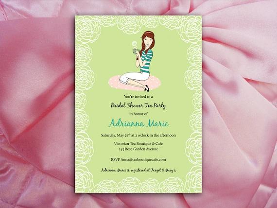 Afternoon Tea or Coffee Bridal Shower - DIY Design Invitation Printables