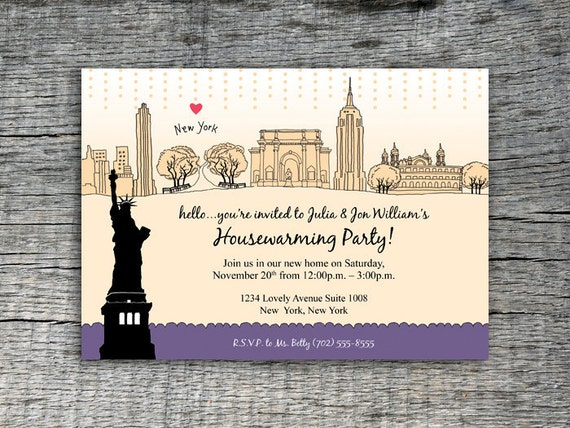 i love new york invitation party design diy by define1lady