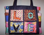 New Hippie Chic Patchwork Diaper Bag Tote LOVE Purse on SALE
