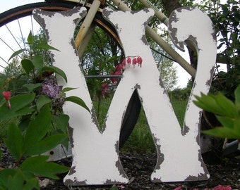 LARGE WOODEN LETTER | Letter W | Wooden letters for Weddings | Wooden Wall Letters | Wooden Guest Book | Wedding Ideas | Nursery Letters