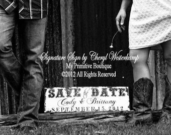 We're Engaged | Rustic Save the Date Sign | Personalized Sign | Engaged | Engagement Photo Props | Engagement | Newly Engaged | Wedding Sign