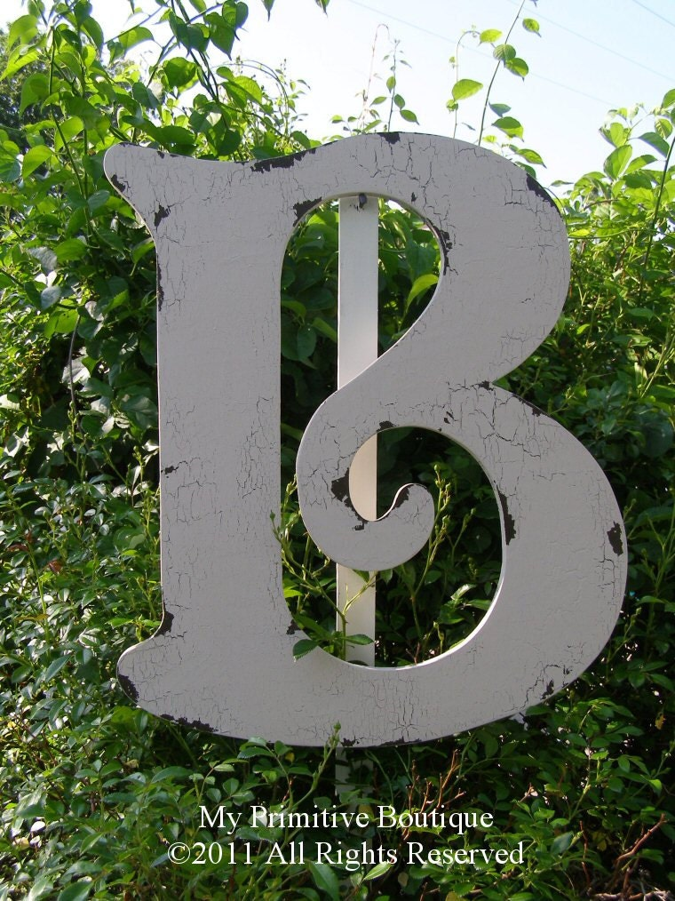 Large wooden letter b cut out letter b 2 by for Big wooden letter b