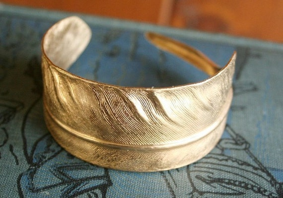 Brass Feather Cuff / Bracelet / Gift / Bridesmaid