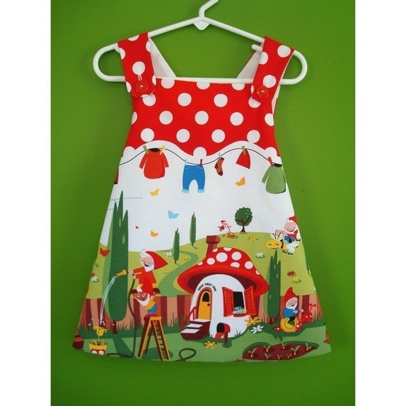 Garden Gnome Smock - 1 year to 2 years - Speciality Fabric