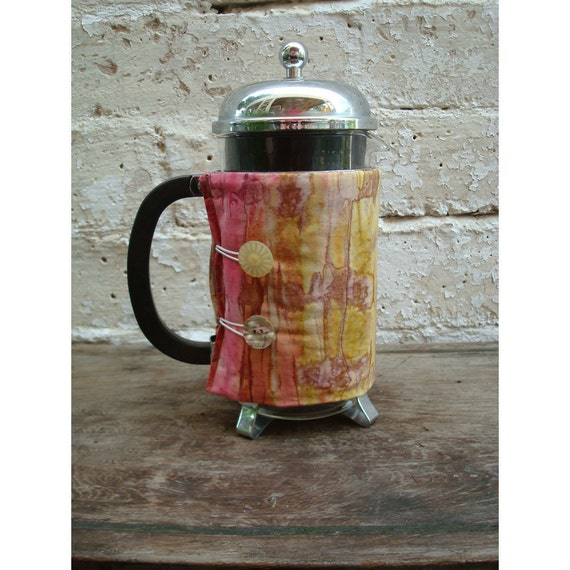 Bodum French Press Coffee Cozy - Sunrise Batik Style - Insulated