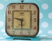 Vintage Aqua Medalist Alarm Clock