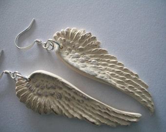 Creamy Ecru Angel Wings earrings