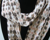 scarf Jersey Cotton Circle Infinity Scarves  tye-dye tans
