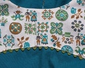 Turquoise and Vintage Cotton Sleeveless Blouse