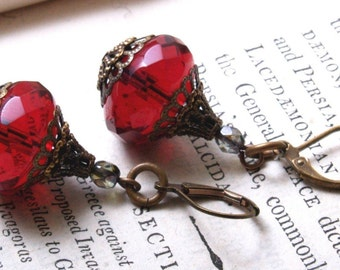 Ciambella Earrings in Red