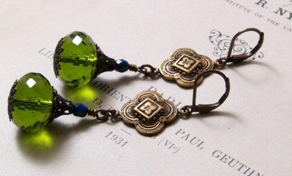 Esme Earrings in Light Olive