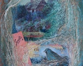 Mystic Landscape....Serenity... Mixed Media by Griselda Tello