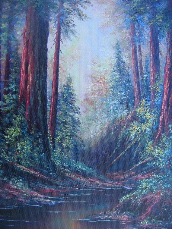 Santa Cruz Redwoods,  Giclee print by Griselda Tello