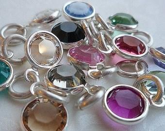 Add a 6mm Swarovski Channel Set Crystal Charm - Personalize your jewelry