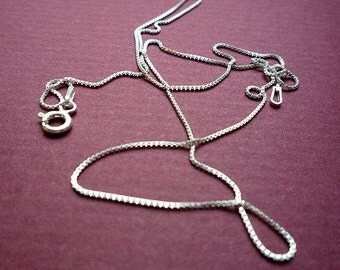 16 inch sterling venetian box chain