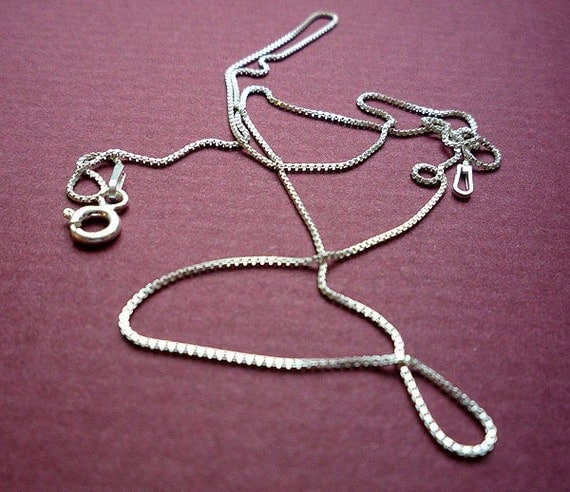 16 inch sterling venetian box chain