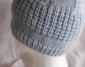 Adult Waffled Textured Beanie Hat- Custom Size and Custom ColorsTo Keep Your Brain Warm and Cozy