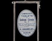Antique Pharmacy Label Pendant