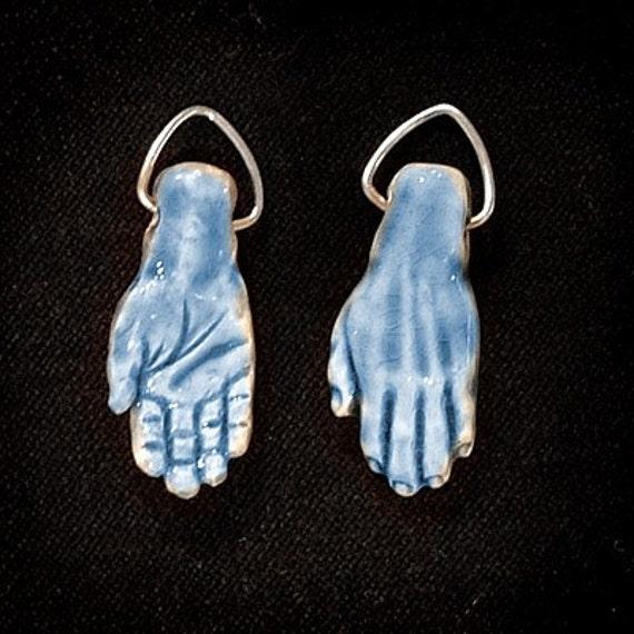 Raku Hand Pendant