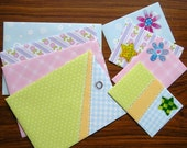 Handmade envelopes (set of 8) - Pastels