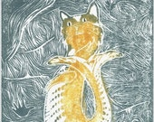 Paleo-Catfish - Woodblock