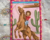 Kitschy Pin-Up Cowgirl Potholder with Hand Pocket