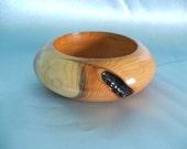 English yew wooden bangle bracelet - SLIM WRIST