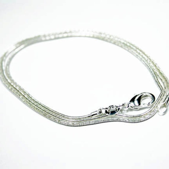 22 inch 1.4mm Sterling Silver Snake Chain Necklace
