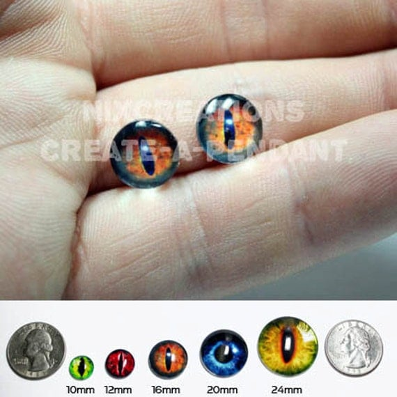 10mm Glass Sauron's Eye from Lord of The Rings Taxidermy Eyes Cabochons for Steampunk Jewelry Pendant Ring Making