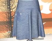 NEW denim all seasons skirt
