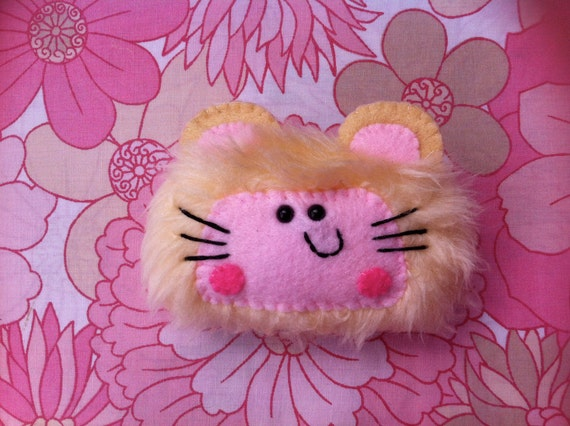 Kitty's lil hamster girl brooch RESERVED for HELEN CLANCY