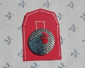 Tweed Chicken Button