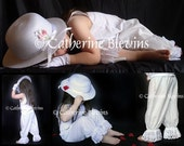 White Bloomers 2T 3T 4T 5T Costume Photo Studio Prop Easter Dress
