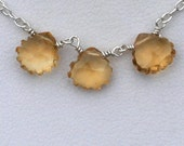 CITRUS Sterling Silver and Citrine Necklace