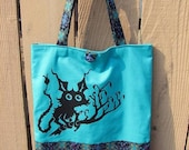 Spooky and Cute Creature Vintage Tote Bag