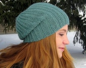 Pearmain: Slouchy Textured Beanie Knitting Pattern By Erssie Major