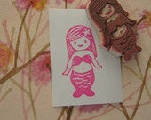 Little Mermaid Rubber Stamp