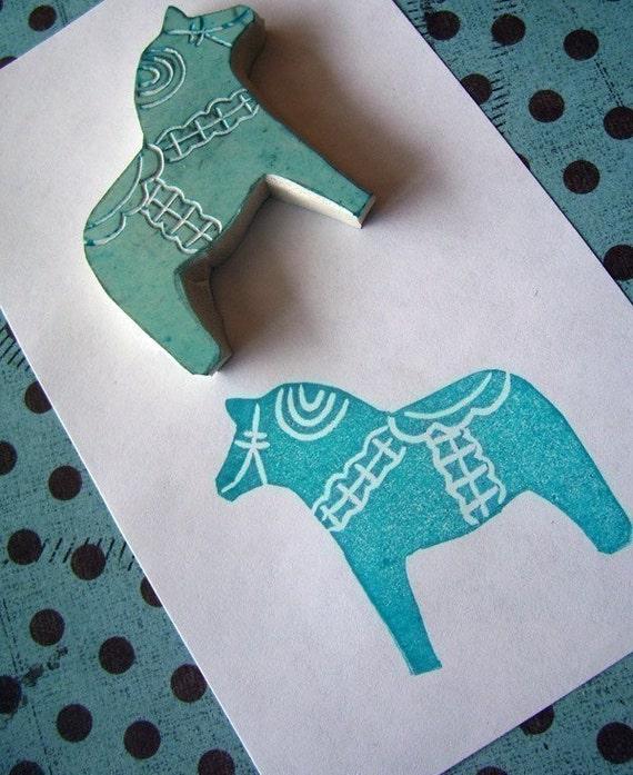 Tiny Ingemar Swedish Horse Rubber Stamp