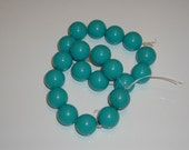 Large Vintage Lucite Beads (Turquoise)